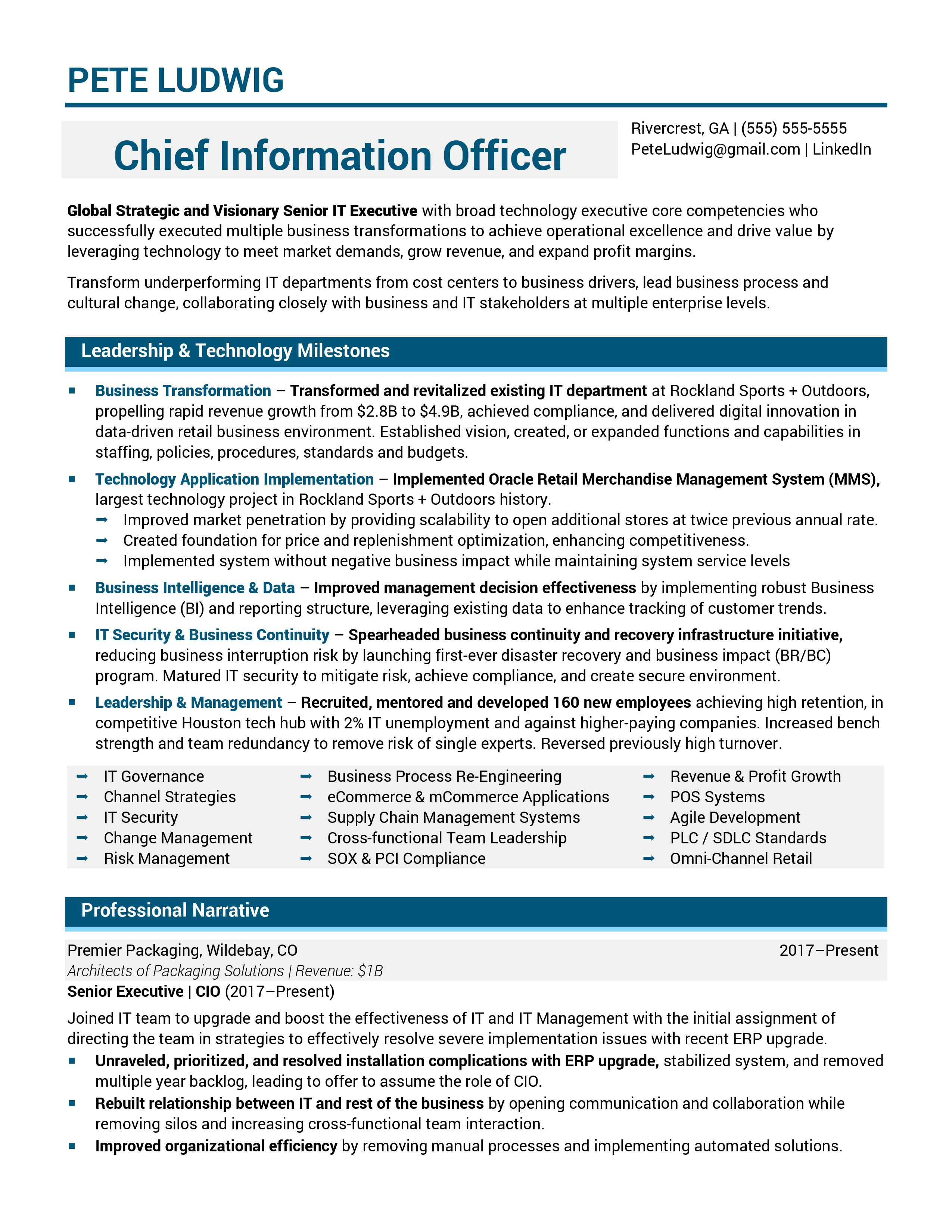 Chief-Information-Officer-Resume-Sample-1-1 Vice President Of Information Technology Resume on information technology professional resume, vp information technology resume, director of information technology resume,