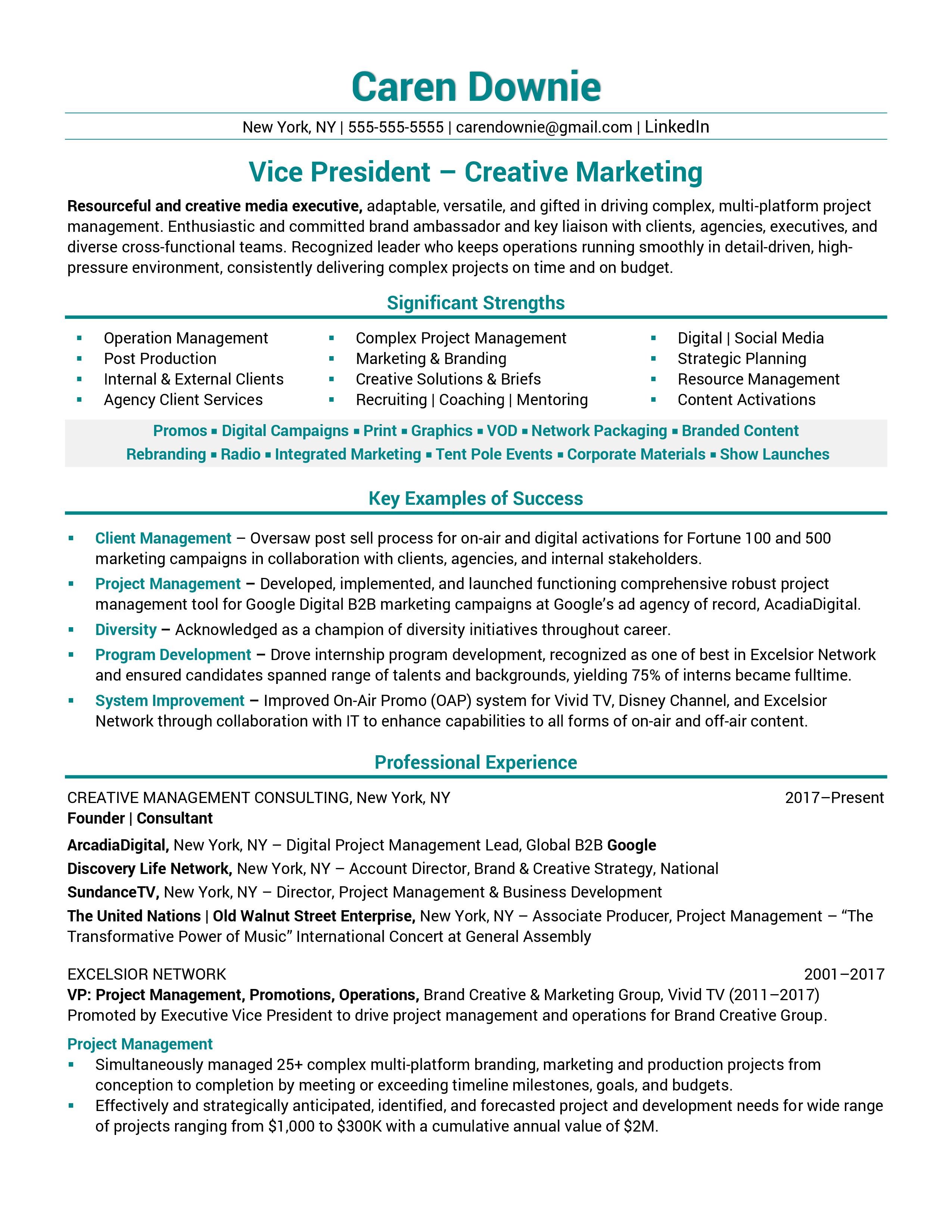 Vice-President-Creative-Marketing-Resume-Sample-1 Vice President Of Information Technology Resume on information technology professional resume, vp information technology resume, director of information technology resume,